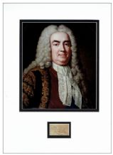 Sir Robert Walpole Autograph Signed Display